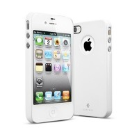 Чехол пластиковый SGP Case Ultra Thin Air Pastel Series INFINITY WHITE для iPhone 4/4S