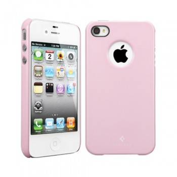 Чехол пластиковый Spigen Case Ultra Thin Air Pastel Series SHERBET PINK для iPhone 4/4S