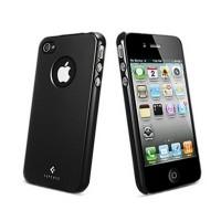 Чехол пластиковый Spigen Case Ultra Thin Air Vivid Series SOUL BLACK для iPhone 4/4S