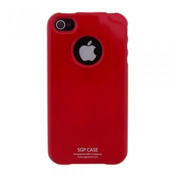Чехол пластиковый Spigen Case Ultra Thin Vivid Series Dante Red для iPhone 4