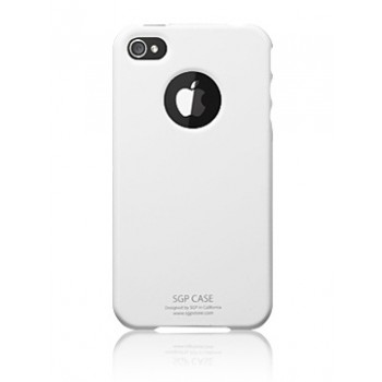 Чехол пластиковый Spigen Case Ultra Thin Pastel Series Infinity White для iPhone 4