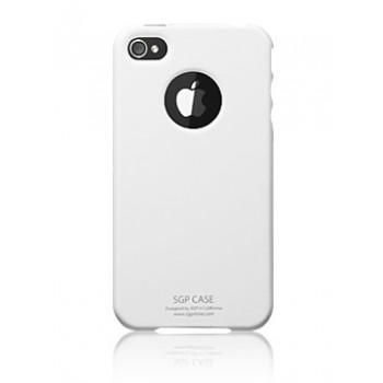 Чехол пластиковый Spigen Case Ultra Thin Pastel Series Infinity White для iPhone 4