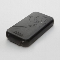 Чехол SGP Leather Case Valencia Swarovski Series BLACK для iPhone 4/4S