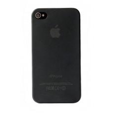 Чехол пластиковый iHappy 0.35 mm Ultra Thin Cover BLACK для iPhone 4/4S