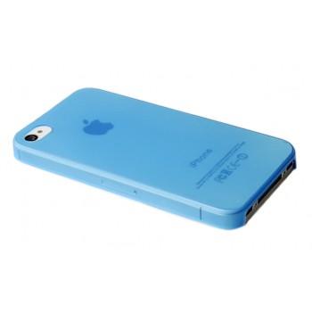 Чехол пластиковый iHappy 0.35 mm Ultra Thin Cover BLUE для iPhone 4/4S
