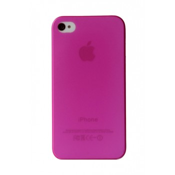 Чехол пластиковый iHappy 0.35 mm Ultra Thin Cover PINK для iPhone 4/4S