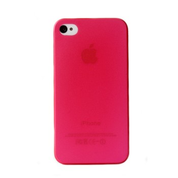 Чехол пластиковый iHappy 0.35 mm Ultra Thin Cover RED для iPhone 4/4S