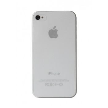 Чехол пластиковый iHappy 0.35 mm Ultra Thin Cover WHITE для iPhone 4/4S