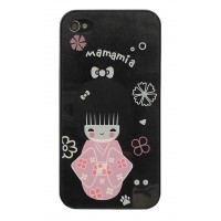 Чехол пластиковый VIVA Kute Kimono Girl Back Cover Case BLACK для iPhone 4/4S