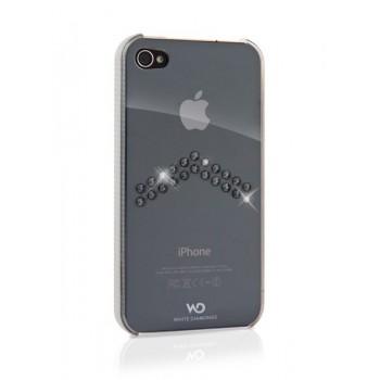 Чехол пластиковый White Diamonds Arrow Chrome для iPhone 4/4S