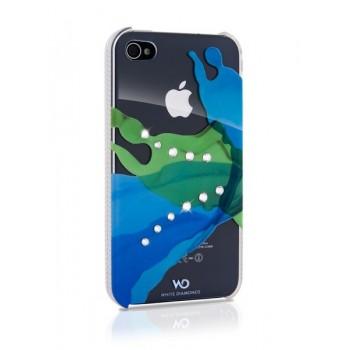Чехол пластиковый White Diamonds Liquids BLUE для iPhone 4/4S