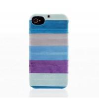 Чехол пластиковый Zenus Prestige Natural Eel Bar Case Multi Blue для iPhone 4/4S