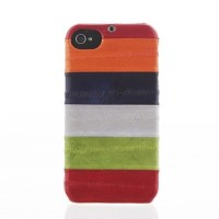 Чехол пластиковый Zenus Prestige Natural Eel Bar Case Multi Red для iPhone 4/4S