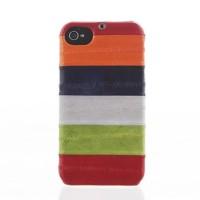 Чехол пластиковый Zenus Prestige Natural Eel Bar Case Multi Red для iPhone 4/4S