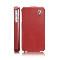 Чехол ICARER Yau Wax Leather Case RED для iPhone 4/4S