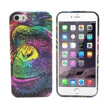 Чехол Luxo 3D Bright Print Aztec Animal Faces Мonkey для iPhone 5/5S/5SE