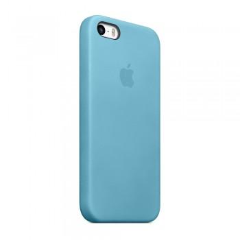 Чехол силиконовый Apple Silicone Case Blue для iPhone 5/5S/5SE