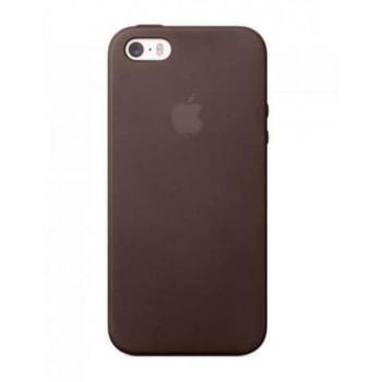 Чехол силиконовый Apple Silicone Case Dark Brown для iPhone 5/5S/5SE