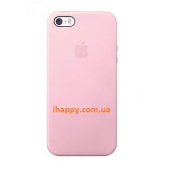 Чехол силиконовый Apple Silicone Case Light Pink для iPhone 5/5S/5SE