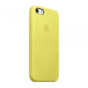 Чехол силиконовый Apple Silicone Case Yellow для iPhone 5/5S/5SE