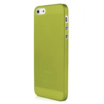 Чехол пластиковый Baseus 0.4 mm Organdy Case Green для iPhone 5/5S