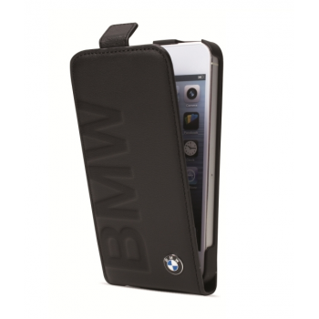 Чехол BMW Debossed Logo Flip Case Black для iPhone 5/5S