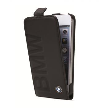 Чехол BMW Debossed Logo Flip Case Black для iPhone 5/5S