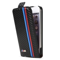 Чехол BMW M Collection Flip Case Carbon Effect для iPhone 5/5S