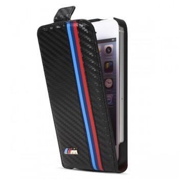 Чехол BMW M Collection Flip Case Carbon Effect для iPhone 5/5S