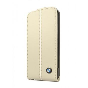Чехол BMW Signature Collection Flip Case CREAM для iPhone 5/5S