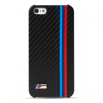 Чехол BMW M Collection Hard Carbon Effect Black для iPhone 5/5S