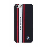 Чехол BMW Motorsport Hard Rubber Navy Blue для iPhone 5/5S