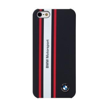 Чехол BMW Motorsport Hard Rubber Navy Blue для iPhone 5/5S