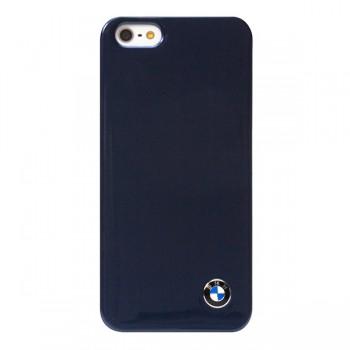 Чехол пластиковый BMW Signature Collection Hard Shiny finish Navy Blue для iPhone 5/5S/5SE