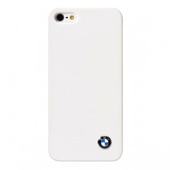 Чехол пластиковый BMW Signature Collection Hard Shiny finish White для iPhone 5/5S/5SE