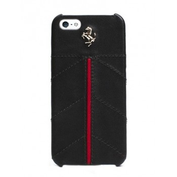 Чехол Ferrari California Leather Cover Case BLACK для iPhone 5/5S