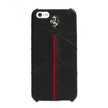 Чехол Ferrari California Leather Cover Case BLACK для iPhone 5/5S