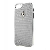 Чехол пластиковый Ferrari Carbon Fiber Hard Case WHITE для iPhone 5/5S