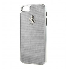 Ferrari Carbon Fiber Hard Case WHITE для iPhone 5/5S