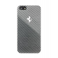 Чехол пластиковый Ferrari Hard Case Carbon Metallic BLACK для iPhone 5/5S