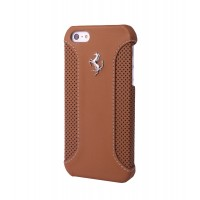 Чехол Ferrari F12 Collection Leather Hard Case CAMEL коричневый для iPhone 5/5S
