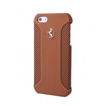Чехол Ferrari F12 Collection Leather Hard Case CAMEL коричневый для iPhone 5/5S