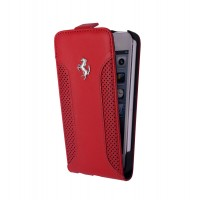 Чехол Ferrari F12 Collection Leather Flip Case RED для iPhone 5/5S