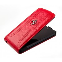 Чехол Ferrari FF Flip Leather Case RED для iPhone 5/5S