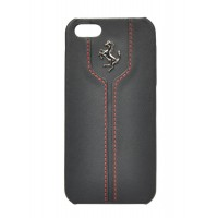 Чехол Ferrari Montecarlo Leather Hard Case BLACK для iPhone 5/5S