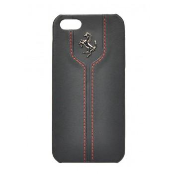Чехол Ferrari Montecarlo Leather Hard Case BLACK для iPhone 5/5S