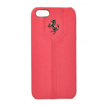 Чехол Ferrari Montecarlo Leather Hard Case RED для iPhone 5/5S