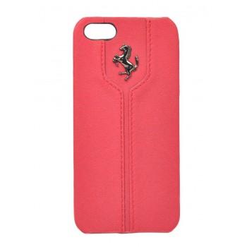 Чехол Ferrari Montecarlo Leather Hard Case RED для iPhone 5/5S