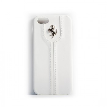 Чехол Ferrari Montecarlo Leather Hard Case WHITE для iPhone 5/5S