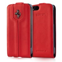 Чехол Ferrari Montecarlo Leather Flip Case RED для iPhone 5/5S
